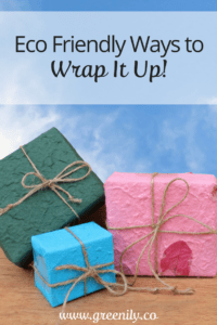 green tips wrapping gifts