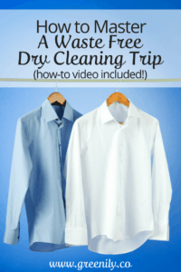 waste free, dry cleaning, easy, tips