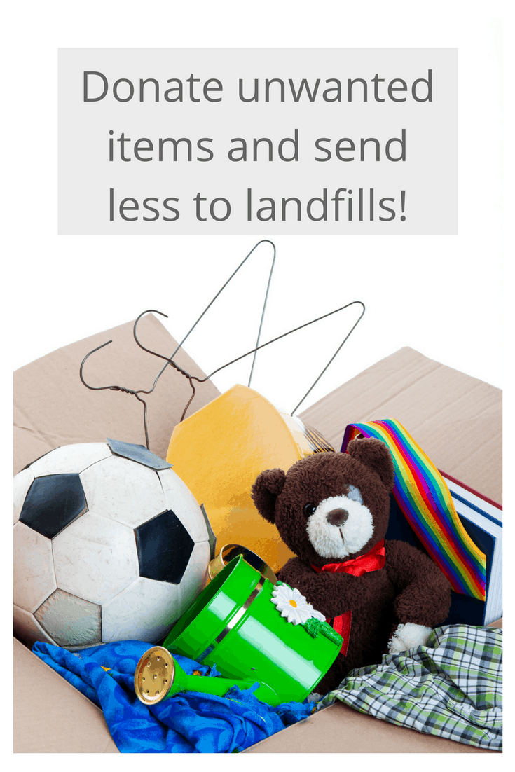 Donate unwanted items to reduce waste!