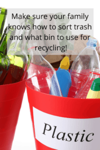 Labeled bins help recycle more and reduce waste!