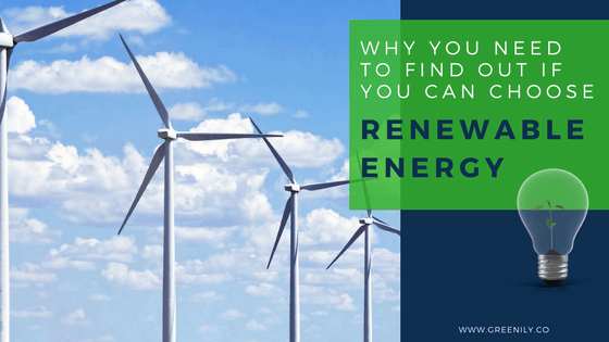 Why You Need To Find Out If You Can Choose Renewable Energy
